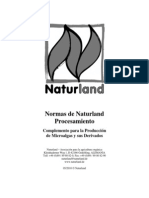 Naturland Normas Procesamiento Complemento Microalgas