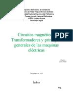Circuitos Magneticos, Transformadores y Principios Generales de las Maquinas Electricas (Luis Irisma).docx