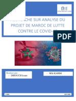ANALYSE DU PROJET DE MAROC DE LUTTE CONTRE LE COVID-19