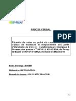 PV de négociation avec l'Entreprise ABB joints de Transfo 27 11 15
