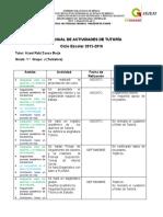 Plan Anual Tutoría 2015-2016