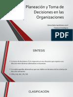Planeación y Toma de Decisiones en las Organizaciones 2