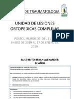 UNIDAD DE LESIONES ORTOPEDICAS COMPLEJAS 18 DE ENERO DE 2019  FINAL