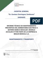 Informe TÉCNICO DERMATOMO 2019