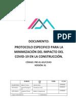 PROTOCOLO ESPECIFICO PARA OBRAS DE INFRAESTRUCTURA