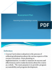 Approaches to Evaluation & Designing an Assessment Plan