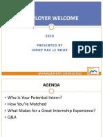 Intern Employer Welcome - 2020 - SLIDES