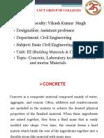 UNIT-1-Concrete (BCE & BT-204)