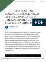 Antifa Demands Capitol Hill Seattle, Washington