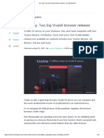 One day. Two big Vivaldi browser releases _ Vivaldi Browser