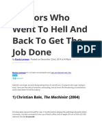 5 Actors Who Went To Hell And Back To Get The Job Done