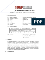 SÍLABO DERECHO LABORAL SOCIAL PREVISIONAL Y COLECTIVO