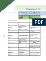 Formulas de Excel y Ejemplos