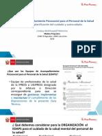 Tema 2 Equipos de acompañamiento psicosocial para el personal de la salud (EDAPS) y planificación del cuidado y autocuidado
