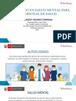 Tema 3 Autocuidado en salud mental para el personal de la salud