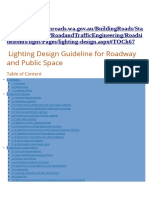 Lighting Design Guideline for Roadway and Public Space