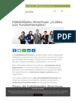 Habilidades directivas  ¿cuáles son fundamentales  - Ecoemprende