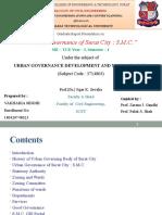 Urban Governance of Surat City S.M.C.