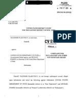Иск к Госдепу VP Complaint 022720 Filed
