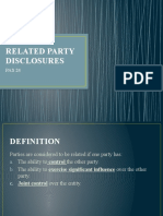 CHAPTER 13 - RELATED PARTY DISCLOSURES