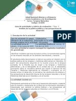 Fase 3 - Análisis de La Política Pública y Las Perspectivas de Desarrollo