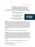 Proyecto de investigación e innovación_una propuesta de intervención educativa para alumnos sobresalientes_Méjico