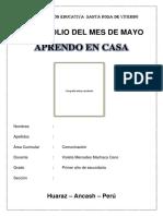 PORTAFOLIO DEL MES DE MAYO - PRIMER AÑO - COMUNICACIÓN (2).pdf