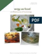 Energy as Food
