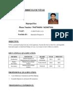 ResumeDiptopalRoy