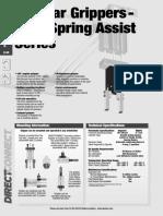 Angular Gripper-180 Degree Spring Assist Series-Heading