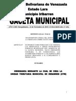 4564 ORD. UNIDAD TRIBUTARIA MUNICIPAL DE IRIBARREN