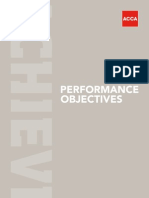 ACCA PER Objective booklets