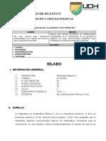 SILABO MATEMÁTICA BÁSICA II - DERECHO Y CIENCIAS POLITICAS- 2020