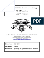 Ohio Peace Officer Basic Training - Civil Disorders