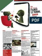 Programme du 2e festival Filmer le travail, Poitiers du 28 janvier au 6 février 2011