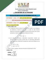 Cronograma de actividades UNES CALCULO TSU II-2O19