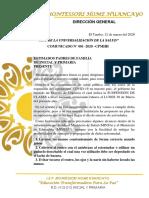COMUNICADO 2020 DIRECCION
