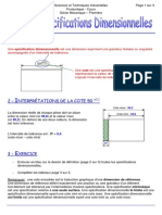 Les specifications dimensionnelles (1)