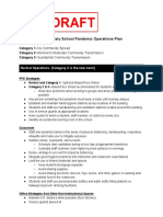2 Elementary School Pandemic Operations Plan