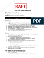 3 Secondary School Pandemic Operations Plan