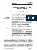 N-2932 Determinação de aminas Livre e total