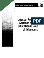 1958 - UNESCO Regional Seminar on the Educational Role of Museums, Rio de Janeiro