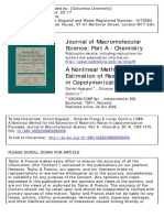 A NONLINEAR METHOD FOR THE ESTIMATION OF REACTIVITY RATIOS IN COPOLYMERlZATlON PROCESSES.pdf