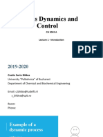 1 - Introduction to Process Dynamics and Control