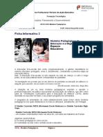 Ficha Informativa 2- Modelos Pedagógicos de Educação