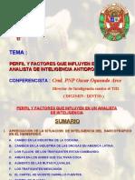 PERFIL Y FACTORES QUE INFLUYEN EN EL ANALISTA ANTIDROGAS