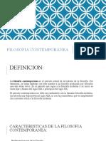 FILOSOFIA CONTEMPORANEA ppt
