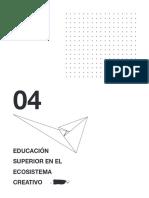 Informe #4 - Educación superior en el ecosistema creativo