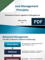 Behavioral Management Principles