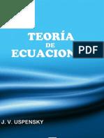 Teoría de Ecuaciones- (Uspensky) Ed. Limusa